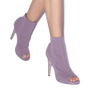 NIB Lavender Knit Ankle Booties